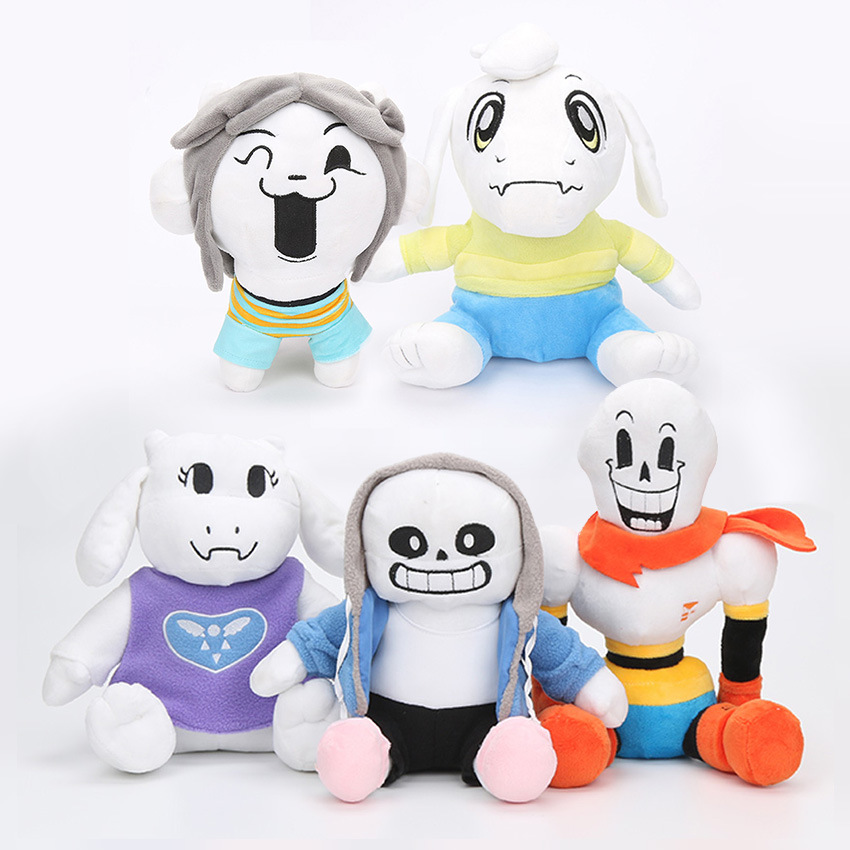 22-36CM Undertale Plush Toy Doll Sans Frisk Chara Asriel Lancer Temmie Toriel Stuffed Toys Birthday For Children Kids Gifts