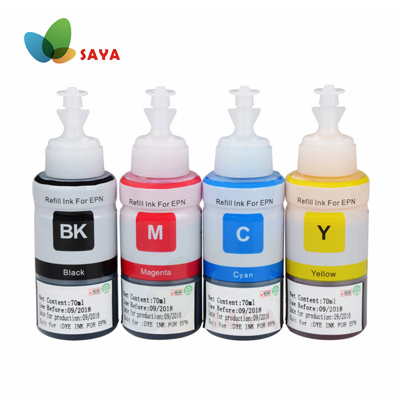 Dye Refill Ink Kit For Epson L100 L110 L120 L132 L210 L222 L300 L312 L355 L350 L362 L366 L550 L555 L566 Printer Free Shipping