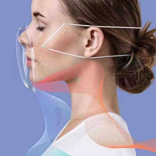 Masque en plastique transparent unisexe