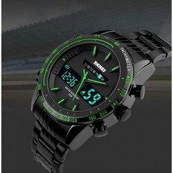Męskie luksusowe zegarki kwarcowe pełny stalowy męski cyfrowy zegarek led w Zegarki mechaniczne od Zegarki na