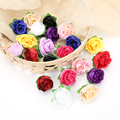 50 шт., искусственные цветы розы, 3 см