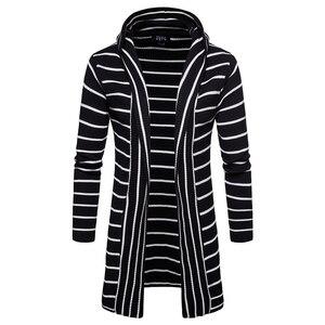 2019 zima mężczyźni na co dzień sweter płaszcz męskie utrzymać ciepłe gruba powłoka slim sweter mężczyzn bluza z kapturem kurtka z dzianiny marki męskie swetry