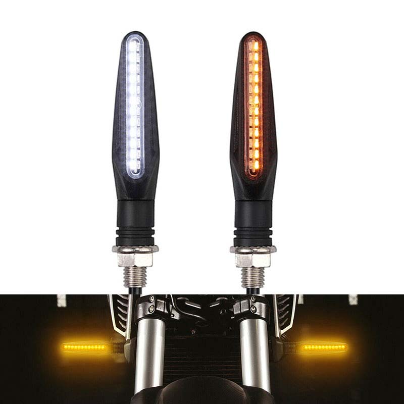 DERI Motorcycle LED Turn Signal Indicator Lights Flowing Water Blinker Day Running Light Brake Lamp Flasher Motorcycle Led Light
