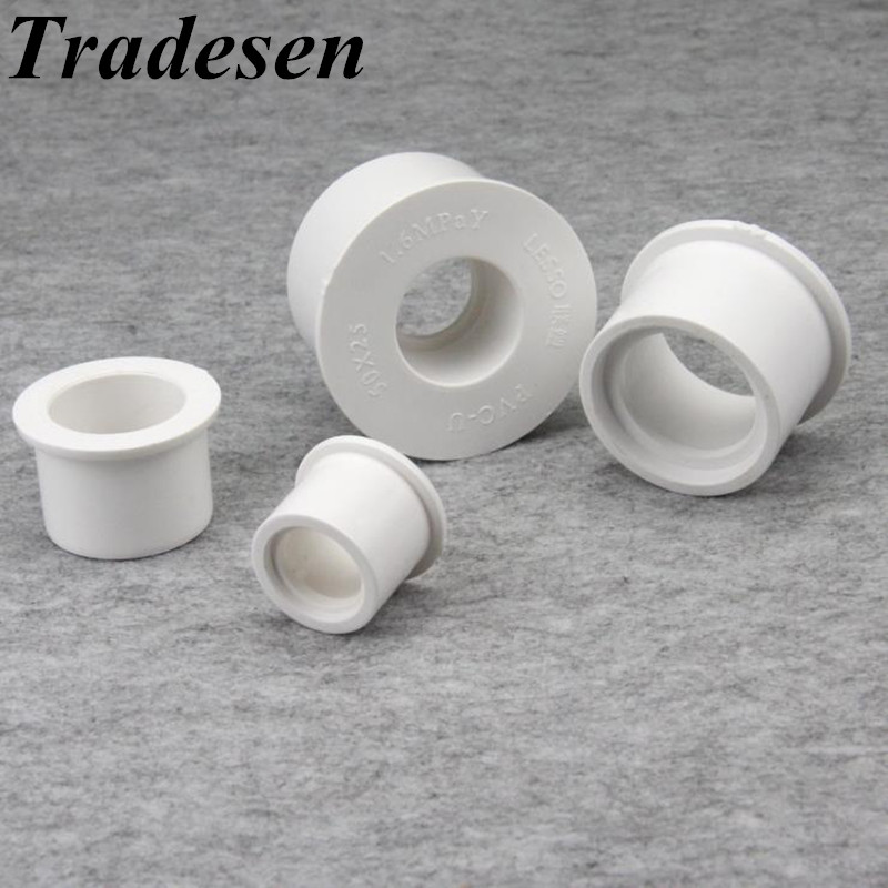 1pcs PVC Reducing Pipe Connector 20 25 32 40 50 Mm Garden Irrigation Connector Water Pipe Joints PVC Pipe Fillings Pipe Bushing