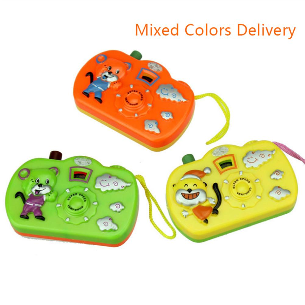 Baby Funny Cartoon Projection Camera Toys Animal Model Light Projection Education Learning Toy For Children Random Colors