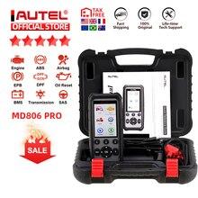 Autel MaxiDiag MD806 Pro OBD2 escáner para coche herramienta de diagnóstico automotriz lector de códigos para automóvil OBDII OBD herramienta de escaneo pk MD802 MD805 MD802