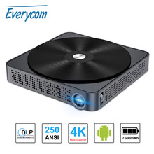 Everycom S10 DLP Mini Projector Android 7.0 Pocket Portable Support 4K AC3 WIFI Bluetooth for Home Theater Beamer 2G + 16/64G(China)