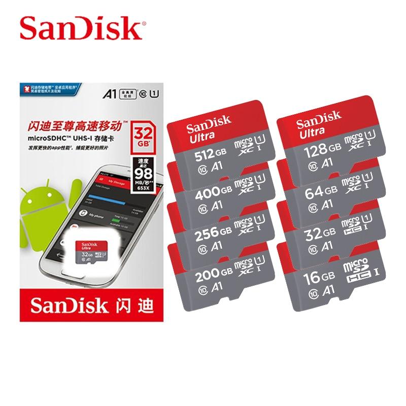 SanDisk tarjeta Micro SD de 16gb 32gb 64gb 128gb Original Uitra C10 tarjeta de Memoria Microsd de 512 gb Cartao de Memoria de tarjetas TF envío gratuito