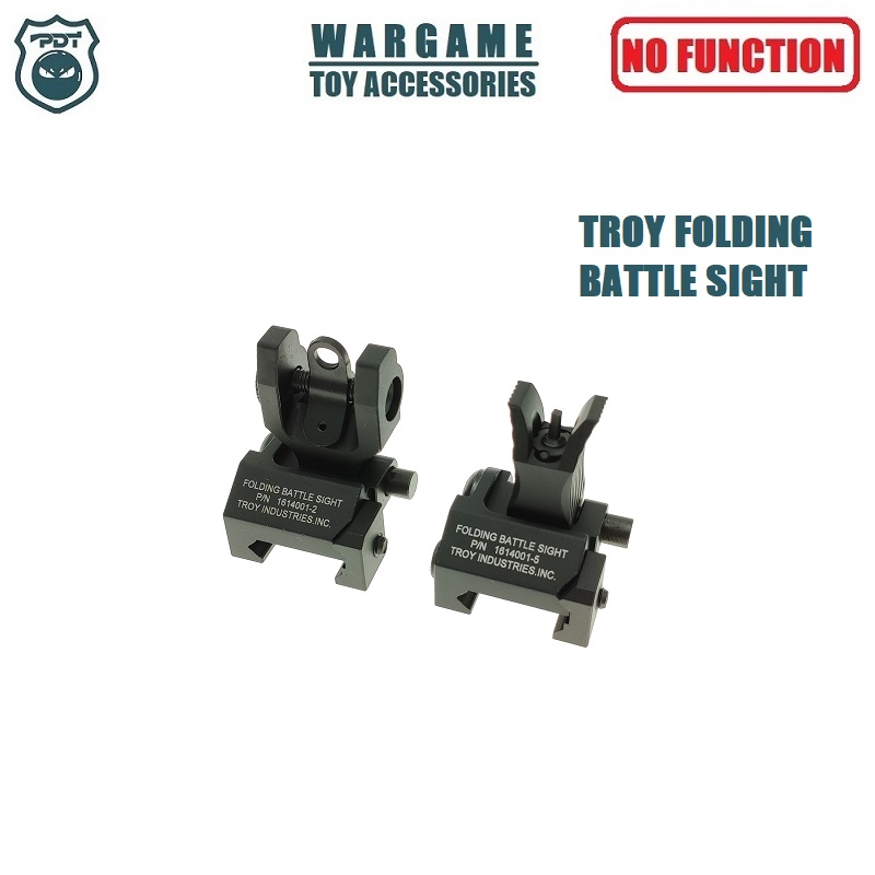 TROY Folding Battle Sight Front Rear Metal Sight Set For Toy Water Gel Ball Blaster Airsoft AEG GBB
