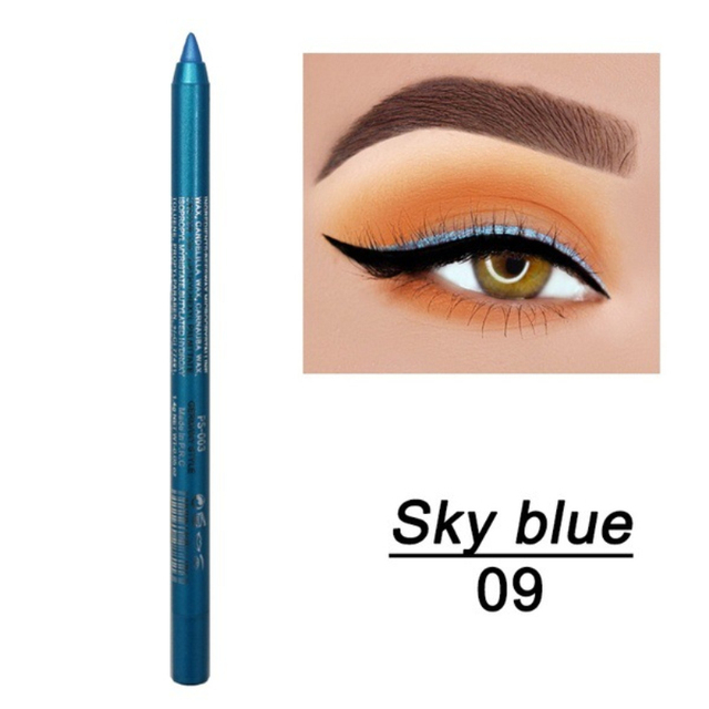 1 Pc Long-lasting Eyeliner Pencil Waterproof 14 Colors Eyeliner Eyeshadow Pen Cosmetic Makeup Tools Dropshipping TSLM2 3