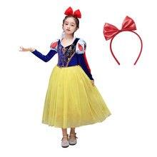 Новинка платье для маленьких девочек vogueon Белоснежка бархатные