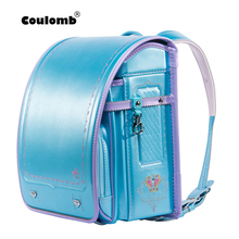 Children Backpack Schoolbag Coulomb Bookbag Patchwork Japanese Girls PU for Hasp Kid