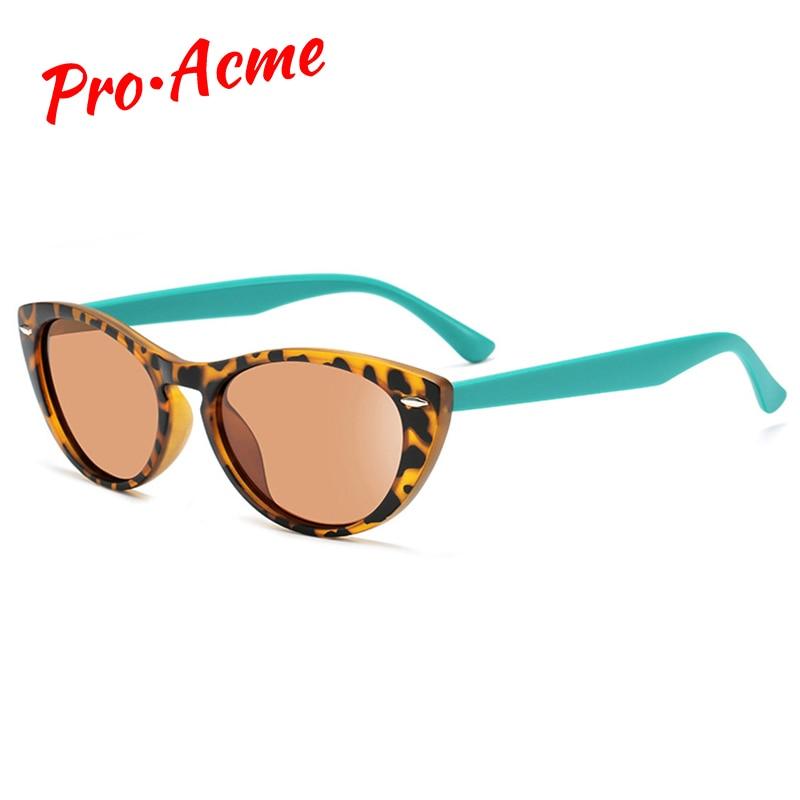 Солнечные очки Pro Acme в винтажном стиле женские, поляризационные солнцезащитные аксессуары кошачий глаз, в оправе из TR90, с защитой от ультраф...