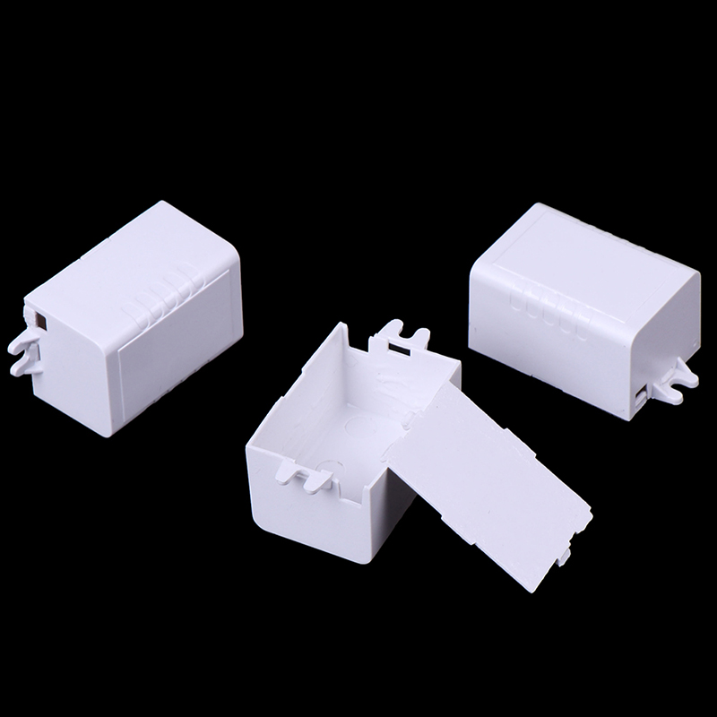 1pc 10pcs Waterproof Plastic font b Electronic b font Enclosure Project Box Black 65x38x22mm Connector Wire
