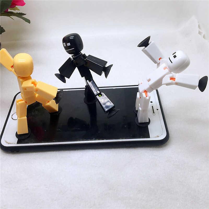 1pc collant Robot figurine jeu de rôle ventouse collant arme Bot poupée couleur aléatoire cadeau Animation jouet créatif accessoire