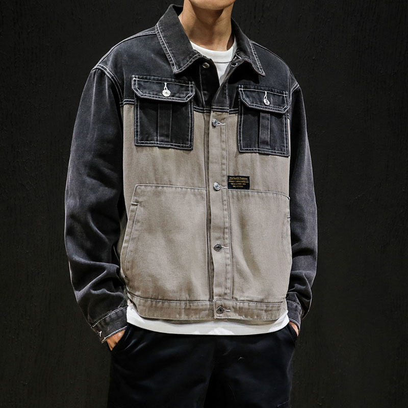 New denim jacket men's hip hop patchwork retro street casual bomber jackets slim men high quality cowboy Jean Jacket