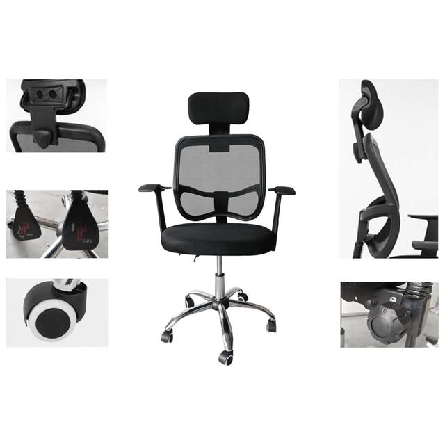 Mesh Back Gas Lift Back Tilt Adjustable Office Swivel Chair with Headrest Armrests For The Office Use 1