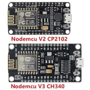 Image 1 - Wireless Module CH340/CP2102 NodeMcu V3 V2 Lua WIFI Internet of Things Development Board Based ESP8266 ESP 12E with PCB Antenna