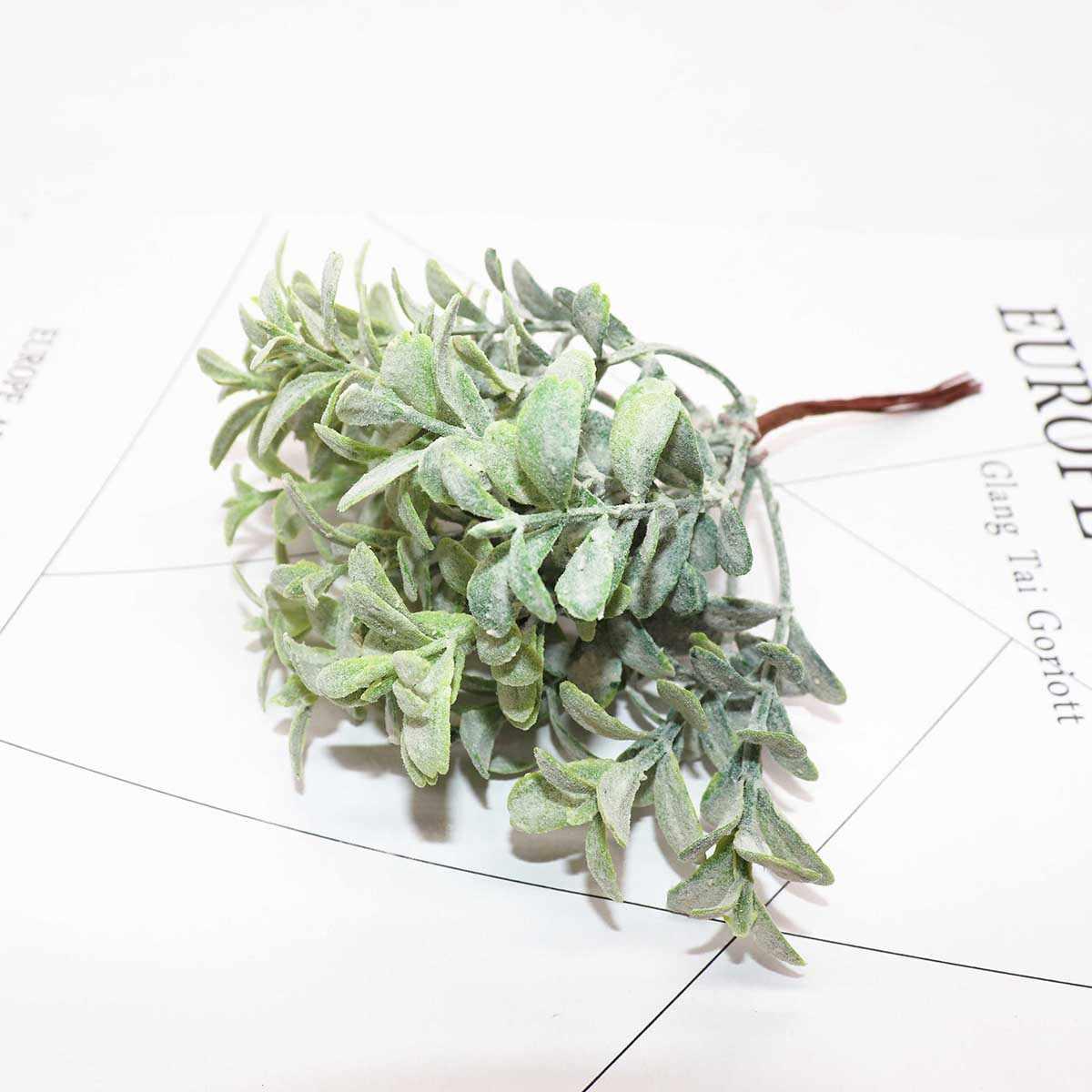 6 قطعة DIY سكرابوكينغ عيد الميلاد الطوق الاصطناعي النباتات أضاليا الزهور الاصطناعية للمنزل ديكور اليدوية وهمية النباتات الخضراء