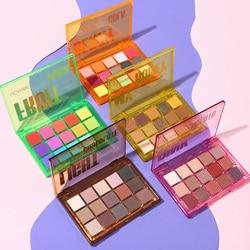 Милые вечерние тени для век UCANBE, палитра для макияжа, 15 цветов, неоновые матовые блестящие пигментированные тени для век, 5 шт.