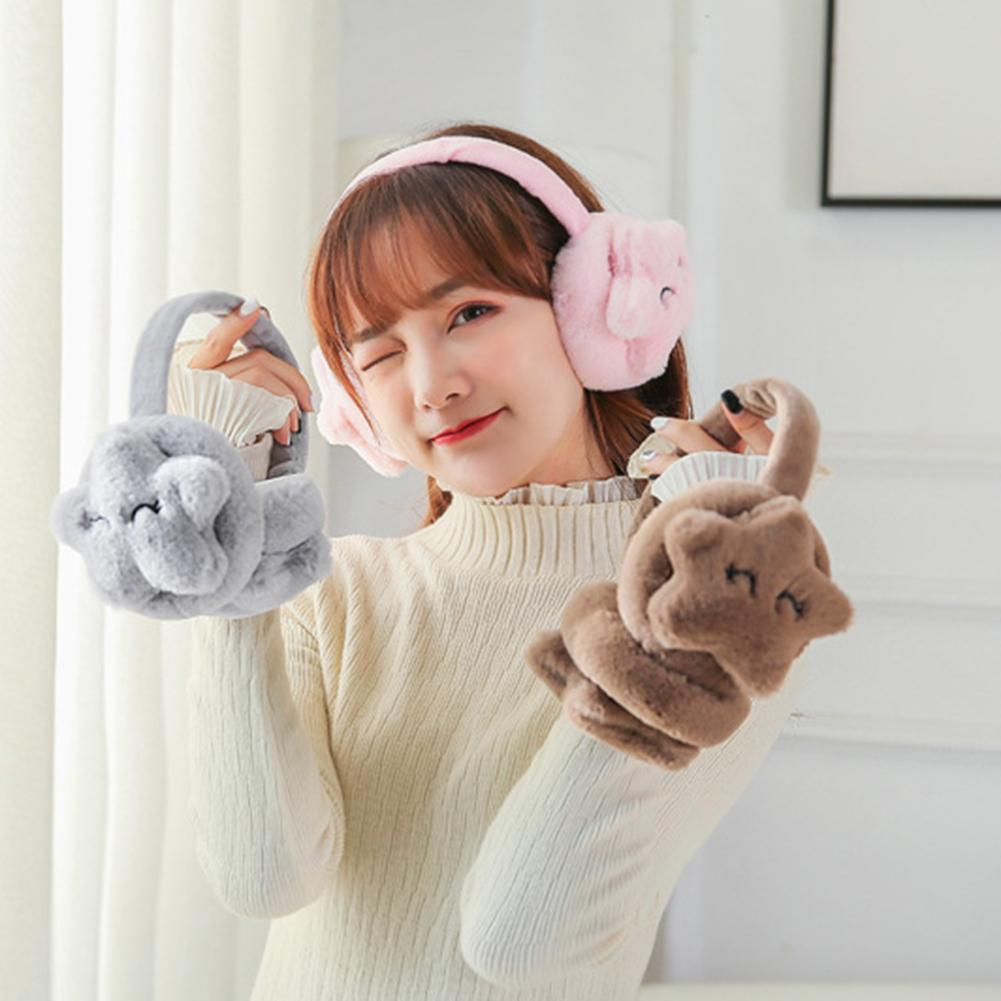 Brand New Fashion Women Girl Fur Winter Ear Warmer Earmuffs Cute Ear Muffs Earlap Glitter Sequin Earmuffs For Winter Riding