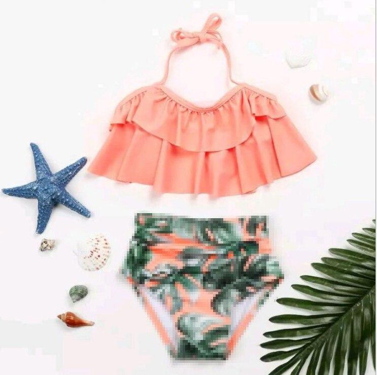 Cross Border Supply Of Goods Foreign Trade New Style KID'S Swimwear Baby GIRL'S Bikini Fashion Cute Triangular Women's Small CHI