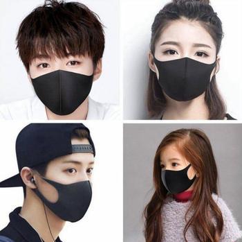 10-20-50Pcs Black Face Mouth Mask Anti-Infection Virus Mouthmask Unisex Anti-dust Mouth Facemask Wholesale Breath Strap Washable