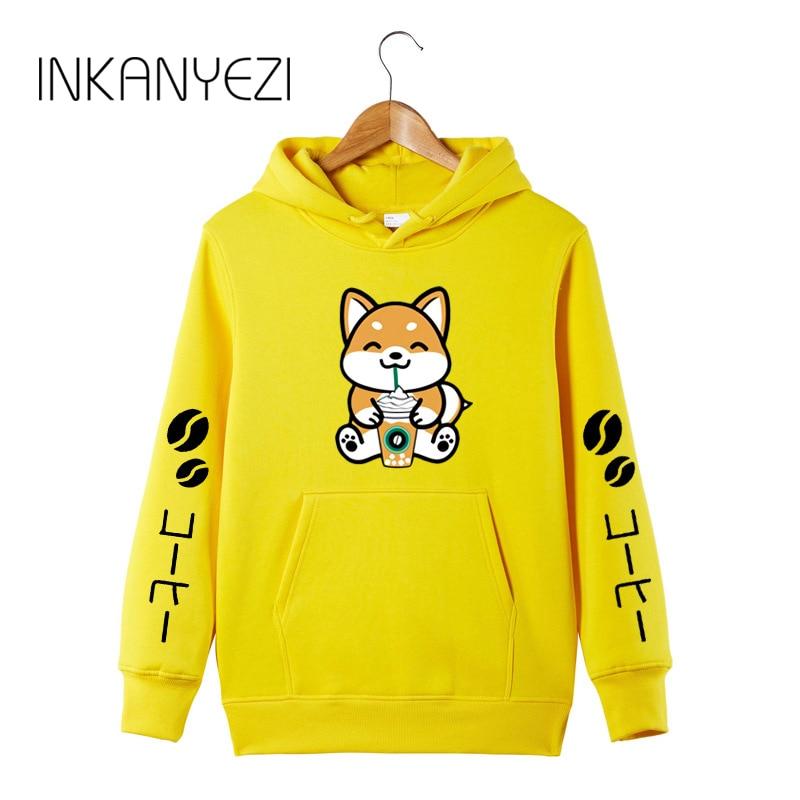 2019 New Coffee Frappe Shiba Inu Hoodie Sweatershirt Harajuku Kawaii Hoodie Sweatershirt -85