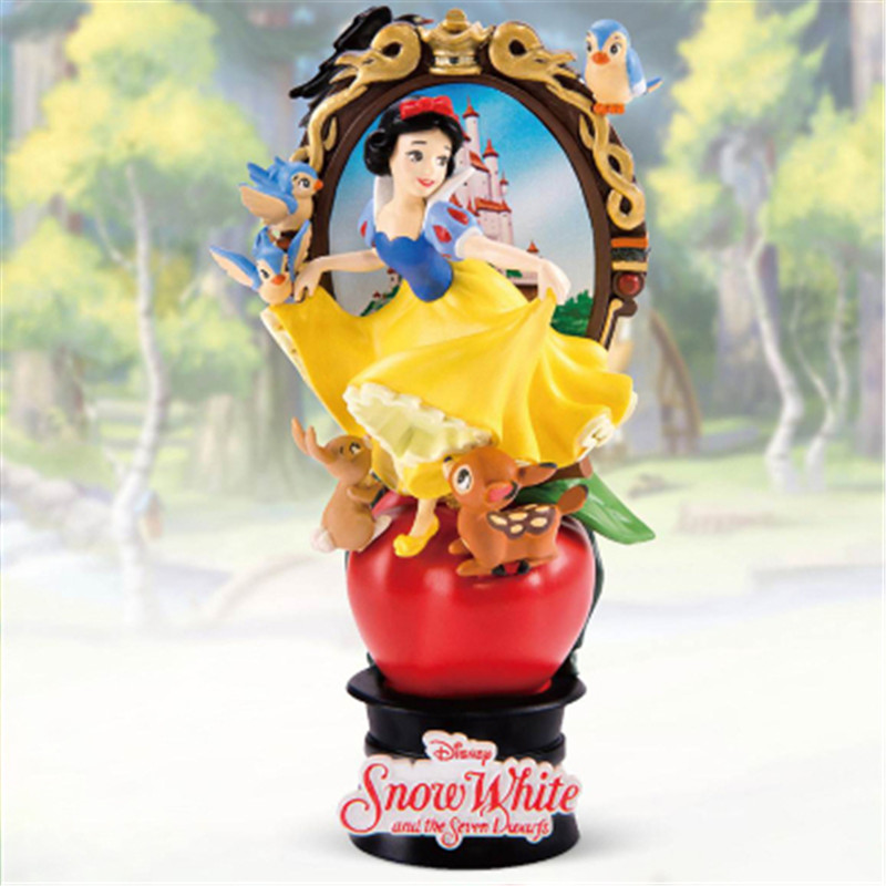 Disney Genuine Classic Princess Seris Mermaid Snow White Beauty and the Beast Animation Scenes Statue Action Figure Toy X4749 image