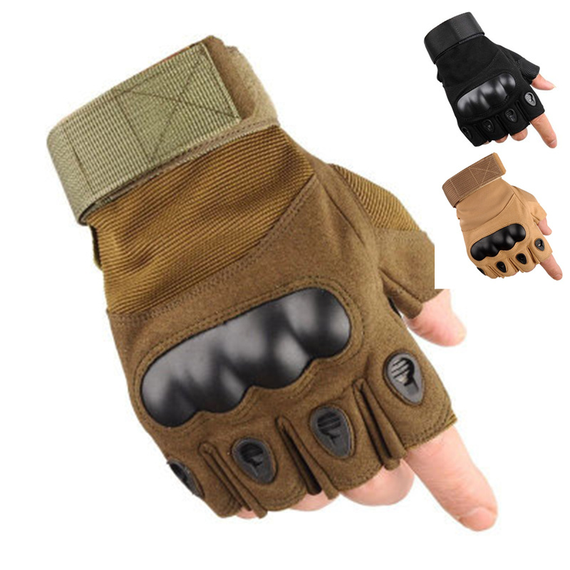 Army Military Tactical Fingerless Gloves Combat Half Finger Men's Gloves Men Cycling Shooting Paintball Gym Tactical Gloves