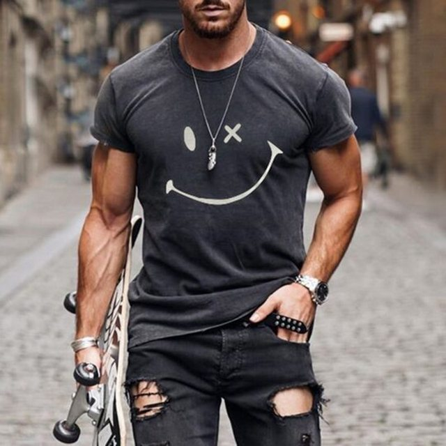 Summer Casual Short Sleeve T-Shirts For Mens  1