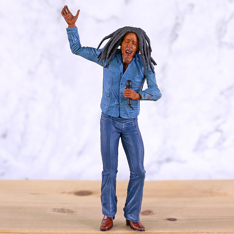 Music Legends Reggae Singer Bob Marley PVC Figure  Mini Statue Collectible Model Toy Gift