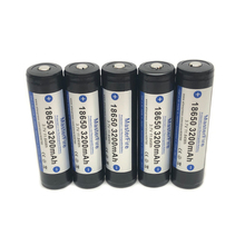 10pcs/lot MasterFire Original Protected 18650 3.7V 3200mAh Rechargeable Battery Lithium Batteries with PCB Made in Japan