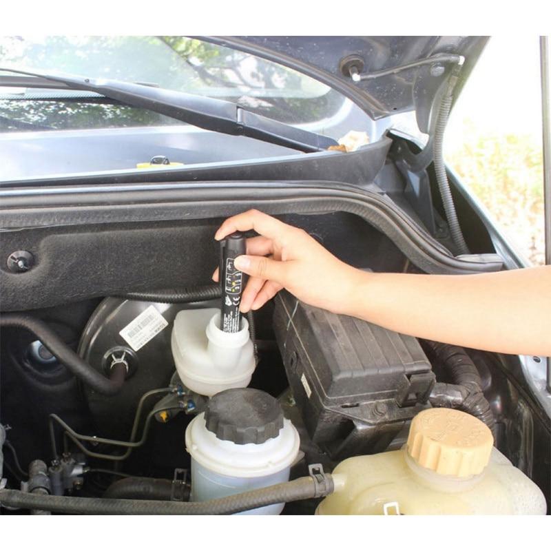 Probador de líquido de frenos automotriz pluma de líquido de frenos de vehículo herramienta de prueba automotriz probador de coches 2X soporte de taza de luz LED para coche automotriz Interior USB colorido atmósfera luces lámpara soporte de bebida antideslizante Mat Auto productos