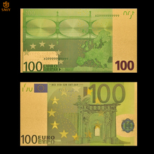 Цветные европейские золотые банкноты, бумажные банкноты 100 евро, сувенирная банкнота
