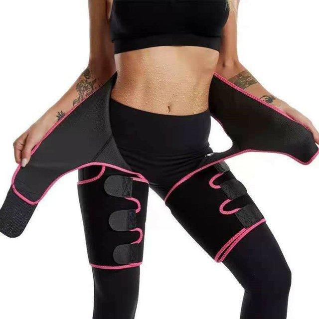 Three-in-one Yoga shorts hip belt explosion sweat belt sports bodybuilding adjustable durable waist belt leg belt Yoga shorts 1
