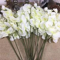 20Pcs/lot Wholesale white Orchid branches Artificial Flowers for wedding party Decoration orchids cheap flowers