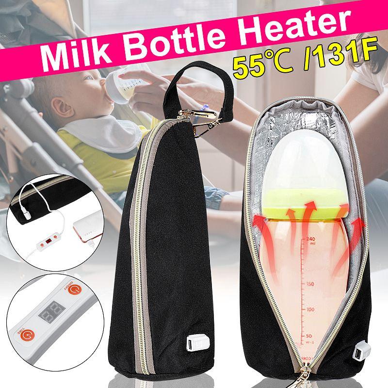 Travel Portable USB Milk Bottle Warmer Bag Constant Temperature Milk Water Heater Baby Nursing Bottle Insulated Bag