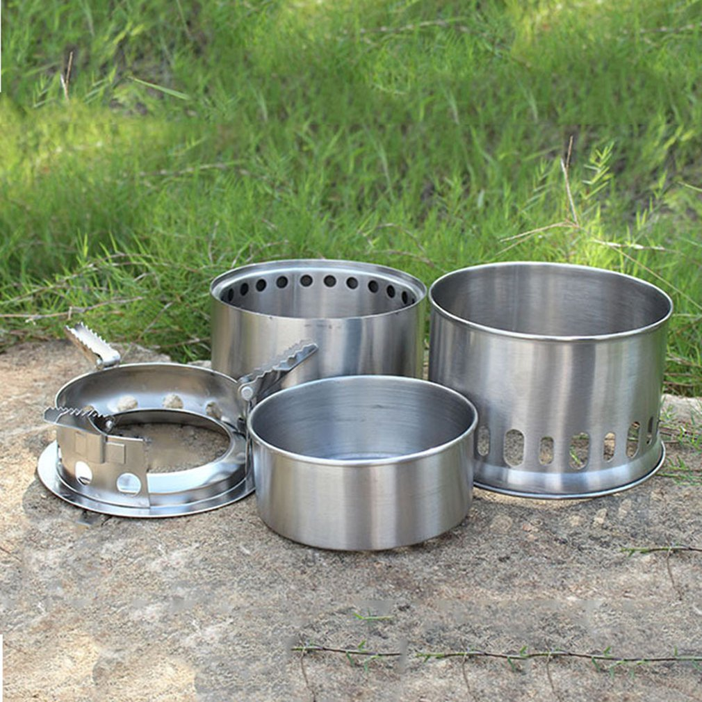 Stainless Steel Firewood Stove Alcohol Stove Outdoor Portable Wood Stove Professional Fashion Quality Light