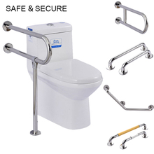 New Stainless Steel Bath Safety Handle Bathroom Tub Toilet Handrail Grab Bar Shower Safety Support Handle Towel Rack