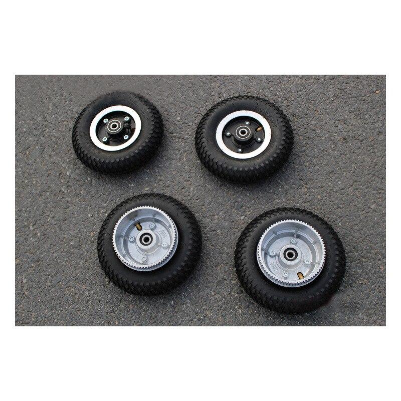 All-Terrain Electric Skateboard Tire 200*50 Mm Off-road Skateboard Wheel Driving Wheel Leather Belt Driven Gear Pneumatic Wheels