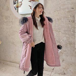 Image 5 - معطف نسائي شتوي من Vielleicht  30 درجة ، معطف طويل دافئ من الفرو الصناعي موضة 2019 ، ياقة طويلة بقلنسوة