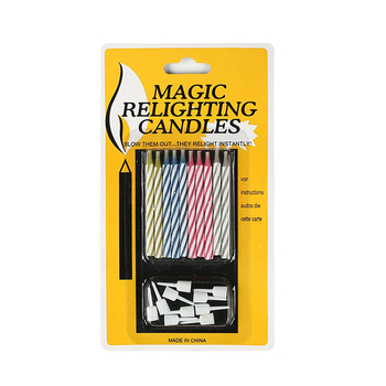 Materiały urodzinowe 10 sztuk paczka śmieszne Tricky świeczki na tort urodzinowy bezpieczne płomienie dekoracje kolorowe płomień świeca tanie i dobre opinie Liplasting Other Filar Urodziny Ogólne świeca Ponownego oświetlania świeca Parafina Relighting Candle support