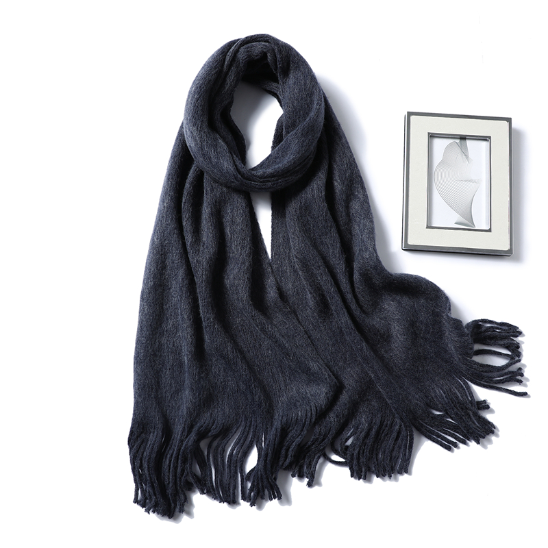 2019 Winter Scarf For Women Fashion Solid Cashmere Scarves Neck Warm Soft Long Size Knitted Men's Scarfs Female Foulard Shawls