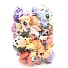 Lps Kat 10 Stks/partij Mini Pet Shop Speelgoed Leuke Stands Kat Hond Oude Zeldzame Originele Figuur Dier Collectie Kitten Collie spaniel