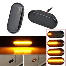 2pc Dynamische Led Blinker Seite marker licht Lampe für VW Volkswagen Bora Golf 3/4 Passat 3B Polo 6N sharan Vento T5 SITZ Ibiza