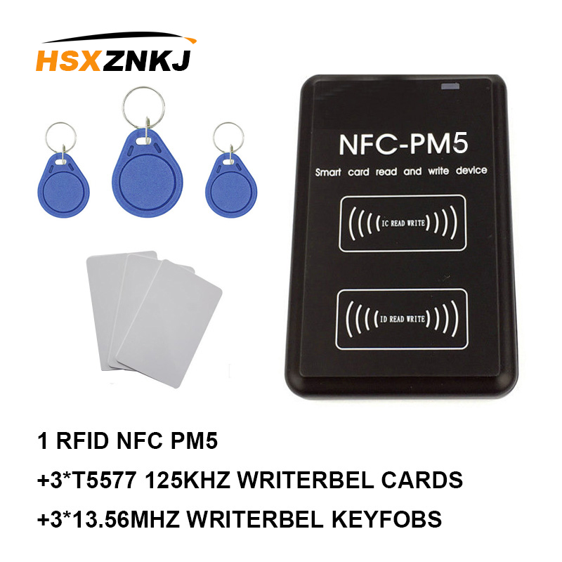 Nfc-pm3 Id 125khz T5577 Em4305 Rfid Copier Ic Reader Replicator New Nfc-pm5 Ic 13.56mhz F08 S50 Decoding Function Smart Card
