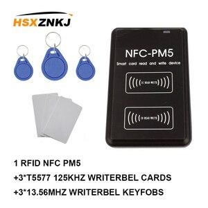 Nueva tarjeta inteligente Nfc-pm5 Id 125khz T5577 Em4305 lector Ic de copiadora Rfid replicatory 13,56 mhz S50