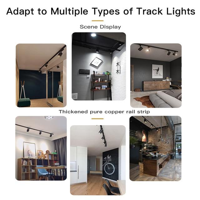 0.5M/1M Track Rail 220v Aluminum Led Track Light Rails Straight/L Shape Connectors for Track Lights Spotlight Lighting