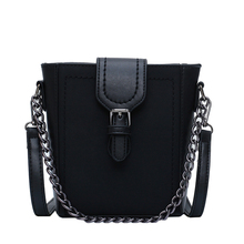 Fashion Shoulder Bag Waterproof Pu Leather Small Square Solid Color Design Retro Rivet Casual Lady Simple Messenger